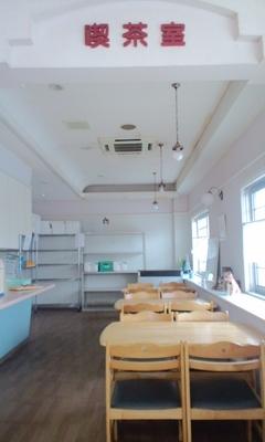 パンとケーキのお店エスピーガ・デ・オロのイートインスペース